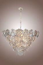 Kinkeldey Chandelier Hexagonal Crystals Germany Style 9 LIGHT Mid Century
