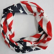 American USA Flag Red, White, Blue Infinity Scarf 20cm x 75cm