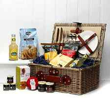 Cream Chiller Fine Food Picnic Hamper | 2 Person Wicker Basket | Birthday Gift