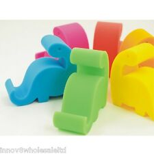 Green silicone smart phone Desktop stand Holder For iPhone Samsun