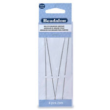 Big Eye Beading Needles, 4.5 in (12.7 cm), 4 pc