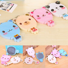 Portable Rabbit-Shape Cute Mirror With Comb Women Girls Travel Cosmetic Tools