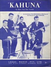 "THE RENEGADES  Rare 1964 Australian Only OOP Original Surf Sheet Music ""Kahuna"""