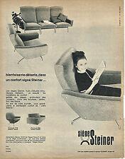 PUBLICITE ADVERTISING 124  1964  STEINER  sièges fauteuils