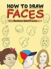 HOW TO DRAW FACES Barbara Soloff Levy Children's kids drawing book people sketch