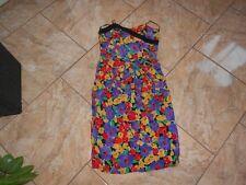 EB113 Richards Corsagen Blumen Cocktail Kleid 38 Schwarz lila Rot Weiß Grü