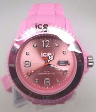 Ice Women Sili Pink Rubber Band Date Oversize Watch 45mm SI.PK.B.S.09 $125