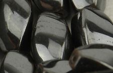 Pack of 8 Hematite 14x8mm Oval Twist Bead (37887-133)