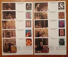 US FDC 2004 Art of the American Indian 10 First Day Covers Mystic Cachets |
