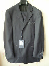 "Italian Made Gents Grey Suits 46""/38""L Super 120 Wool Jacket+Trousers Full Set"