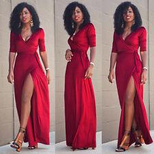 Women Sexy Summer Dress Maxi Long Evening Party Beach Dress Sundress Size 6-16