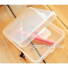 Mini Transparent Makeup Box Powder Puff Eyelashes Jewelry Storage Box