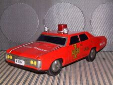"ALPS VINTAGE TIN CHEVROLET IMPALA ""FIRE CHIEF"" CAR BATTERY OPERATED & WORKING!"