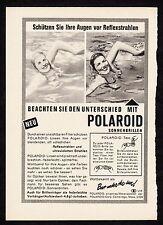 3w1696/ Alte Reklame von 1960 - POLAROID Sonnenbrillen