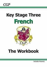 KS3 French Workbook with Answers by CGP Books (Paperback, 2002)