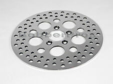 "Harley Brake Disc Rotor Front 11.5"" Polished Vented Stainless Steel 5 Holes"