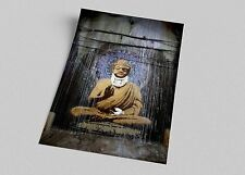 ACEO Banksy Injured Buddha Graffiti Street Art on Canvas Giclee Print
