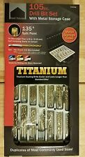 TOOL HOUSE 105 PIECE DRILL BIT SET WITH METAL STORAGE CASES - NWT