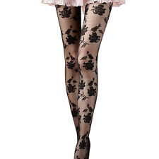Sexy Women Stockings Rose Printed Clubwear Thigh-Highs Stockings