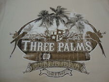 Caribbean Apparel Three Palms Cigar Bar Vacation Souvenir Beach T Shirt M