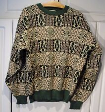 "Vintage - Men's Sweater ""The Men's Store at Sears"" Green Black Cream Large L"