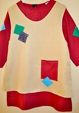 New Kids Annie  Orphan costume  Size 6-8 Years Old  Burgundy / Beige Fabric