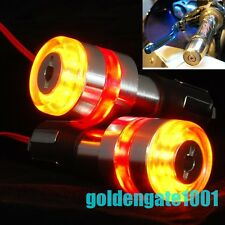 "7/8"" Motorcycle Handlebar Bar End LED Amber Red TurnSignal Light for Kawasaki GG"
