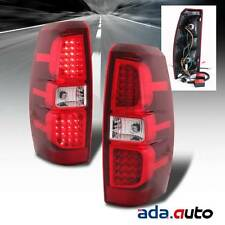 2007-2013 Chevy Avalanche [Scarlet Red] LED Tail Lights Brake Lamps Pair