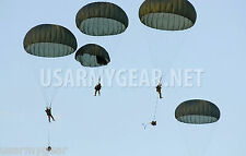New US Army Military Surplus Foliage T10 Personnel Parachute 35' FT w Lines Cut