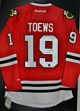 Jonathan Toews Signed Chicago Blackhawks Home Jersey FRAMEWORTH COA