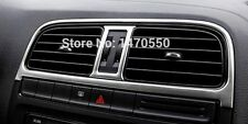 640- VW VOLKSWAGEN GTI Polo 2015-16 AC OUTLET DASHBOARD Silver Trim (4 Pcs) NEW