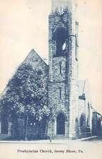 Jersey Shore Pennsylvania birds eye view Presbyterian Church antique pc Y12396