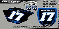 Yamaha YZ125-250 02-14 Pre Printed Number plate Backgrounds BOLT SERIES