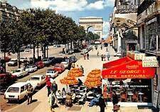 France Paris L'Arc de Triomphe, Cinema Lord Byron Restaurant Cars Voitures