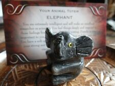 *ELEPHANT Baby* Carved Stone Figurine Totem Wiccan Pagan Familiar Metaphysical