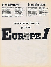 PUBLICITE ADVERTISING 064 1971 EUROPE 1 en vacances bien sûr
