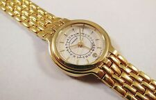 Lassale by Seiko Gold Tone Stainless Steel 4K26-0030 Sample Watch NON-WORKING