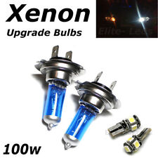 H7 100w SUPER WHITE XENON (499) HID Head Light Bulbs 12v + 5 Led T10 Sidelights
