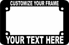 MOTORCYCLE CUSTOM TEXT SCOOTER BIKE CUSTOM TEXT PERSONALIZED License Plate Frame