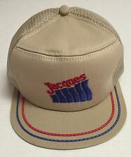 Vtg Jacques Company Trucker Hat Agriculture Farming Made In The USA Seeds WI