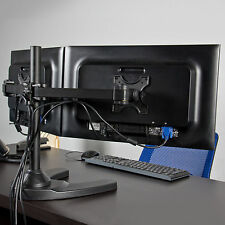 """Dual LCD Monitor Desk Stand/Mount Free Standing Adjustable 2 Screens up to 24"""""""