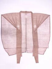 VINTAGE JAPANESE KIMONO / ANTIQUE KAMISHIMO (TOP) / EDO ERA NEUTRAL COLOR HEMP