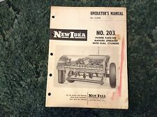 985207 - A New Original Operators Manual For A New Idea No. 203 Manure Spreader