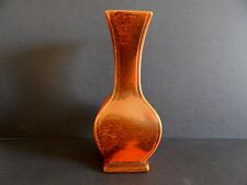 "Red Wing Pottery Vase Orange and Bay 11"" Tall  #686"