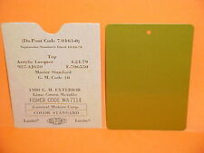 1980 GM CHEVROLET CAMARO PONTIAC FIREBIRD GRAND PRIX 4x6 OEM PAINT CHIP CODE 40