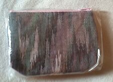 New Mary Kay Multi Color Make Up Expanding Full Zip Travel Bag Pouch