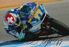 Dominique Aegerter Hand Signed Interwetten Kalex 12x8 Photo 2015 Moto2 2.