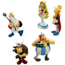 ASTERIX Box 5 FIGURE 6cm Originale PLASTOY Obelix Panoramix Falbalà Figures NEW