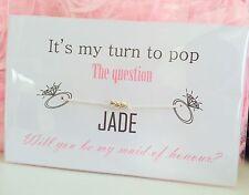 Veux-tu être ma demoiselle d'honneur/demoiselle d'honneur/fleur fille bracelet-mariage