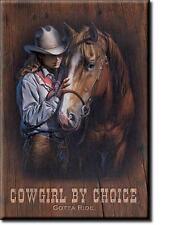 Cowgirl Reiten Pferde USA Westernreiten Magnet Magnetschild